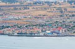 Gordons Bay as seen from the start of Clarence Drive. CAPE TOWN, SOUTH AFRICA - DECEMBER 20TH, 2014: A recreational harbor in Gordons Bay near Cape Town as seen Royalty Free Stock Photos