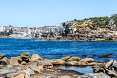 Gordons bay in Sydney. Bondi to Coogee walk is 6 km long located in Sydneys eastern suburbs Royalty Free Stock Photo