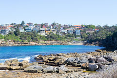 Gordons bay in Sydney. Bondi to Coogee walk is 6 km long located in Sydneys eastern suburbs Royalty Free Stock Image