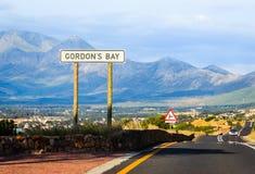 Gordons Bucht-Verkehrsschild Lizenzfreies Stockfoto