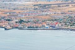 Gordonsbaai zoals die vanaf het begin van Clarence Drive wordt gezien Royalty-vrije Stock Afbeelding
