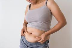 Gordura corporal das mulheres fotografia de stock