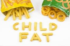 Gordura da criança Fotografia de Stock Royalty Free