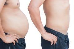 Gordura do homem do corpo Fotos de Stock