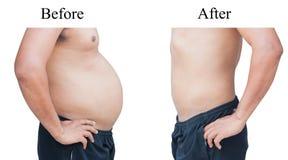 Gordura do homem do corpo Fotografia de Stock