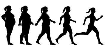 Gordura para caber a mulher Imagens de Stock