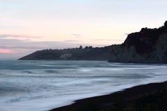 Gore Bay Sunset, Canterbury Royalty-vrije Stock Afbeeldingen