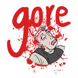 Gore blood. Creative design of gore blood Stock Image
