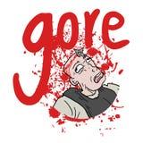 Gore-Blut Stockbild