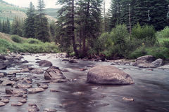 Gore Creek in Vail, Colorado. Image shot in the late afternoon Royalty Free Stock Photos
