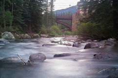 Gore Creek in Vail, Colorado. Gore Creek shot at late evening in Vail, Colorado Royalty Free Stock Photo
