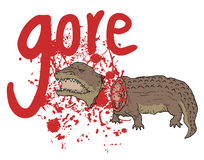 Gore crocodile Stock Images