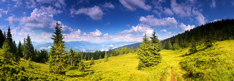 Gore Horn in the Carpathians. Royalty Free Stock Photos