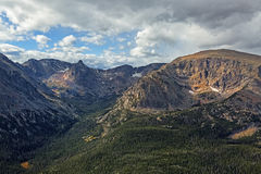Gore Range. Alpine Visitors Center, Rocky Mountain National Park, Colorado, USA stock images