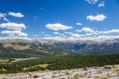 Gore Range, Colorado Rockies dalla traccia di escursione della montagna del santuario Fotografie Stock