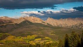 Gore Range Vail Colorado tidschackningsperiod arkivfilmer