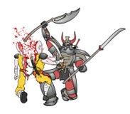 Gore samurai fight. Creative design of gore samurai fight Royalty Free Stock Image