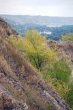 Gore Tsaryov Kurgan i bosättningen av Volzhsky och Zhiguli kullar Samararegion Arkivfoto