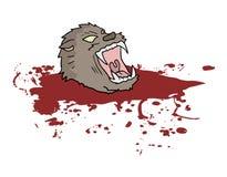 Gore wild wolf head Royalty Free Stock Photos