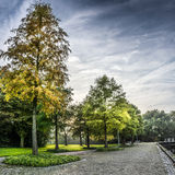 Gorechtpark zmierzch Zdjęcia Royalty Free
