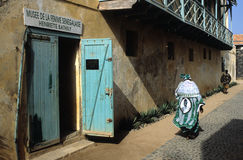 Goree Island. Senegal. SENEGAL. Dakar region. Goree Island ; Facade of   Musee de la femme senegalaise Henriette Bathily Royalty Free Stock Photography
