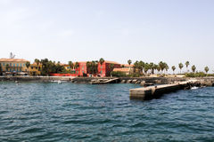 Goree Island, Senegal stock images