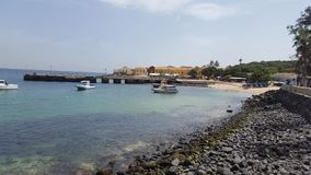 Goree island, Dakar& x27;s bay, Senegal royalty free stock images