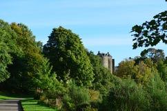 Goregous Lush Landscape Surrounding Dunstaffnage Castle. Lush green landscape surrounding Dunstaffnage Castle in Scotland stock photography