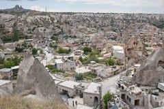 Goreme视图在卡帕多细亚,土耳其 免版税库存图片