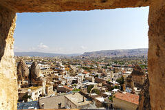 Goreme, Capadocia, Turkey from hotel window Royalty Free Stock Photography
