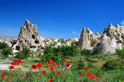 Goreme in Cappadocia Immagine Stock