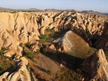 Goreme cappadocia från ballongen arkivfoto