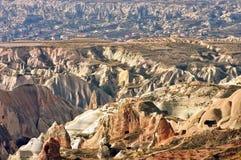 Hilly landscape - Landmark attraction in Goreme, Cappadocia - Turkey Royalty Free Stock Image