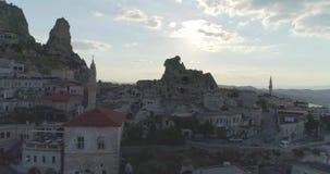 Goreme in Cappadocia, Turkije stock footage