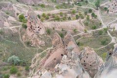 Goreme cave city Stock Photo