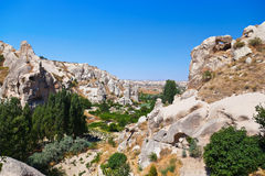 Goreme cave city in Cappadocia Turkey. Nature background Royalty Free Stock Photo