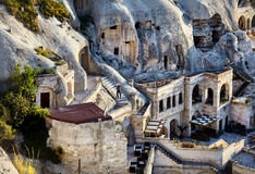 Goreme city in Cappadocia Royalty Free Stock Photo