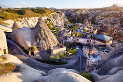 Goreme city in Cappadocia Stock Images