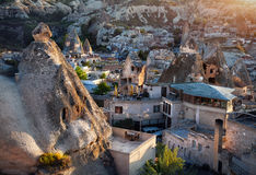 Goreme city in Cappadocia Royalty Free Stock Images