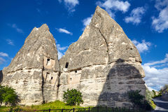 Goreme city in Cappadocia Stock Photo