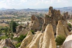 Goreme en el invierno frío Cappadocia Imagen de archivo libre de regalías