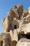 Goreme en el invierno frío Cappadocia Foto de archivo libre de regalías