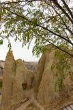 Goreme-Freilichtmuseum Cappadocia die Türkei der öffentlichen Orte Felsformationen stockfoto