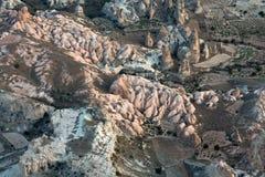 Goreme am kalten Winter Cappadocia, Stockfotografie