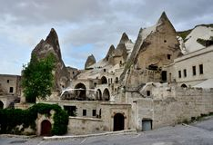 Goreme or Maccan - oldest sites of Cappadocia,Turkey Stock Images