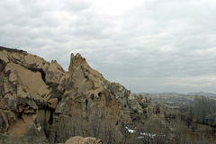 Goreme na wolnym powietrzu muzeum w Cappadocia Zdjęcia Royalty Free