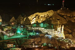 Goreme by night Royalty Free Stock Photo