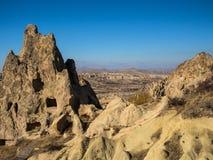 Goreme Open Air Museum in Cappadocia. Rock houses and landscape at Goreme Open Air Museum. Cappadocia, Turkey Stock Image