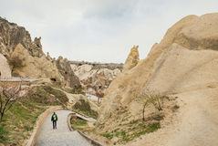 Goreme Open Air Museum with cave churches and chapels Royalty Free Stock Photo