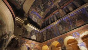 The Goreme Open Air Museum has been a member of UNESCO World Heritage. It contains the finest of the rock-cut churches. Turkey-The Goreme Open Air Museum has stock video
